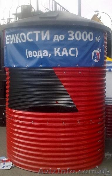 Емкости, резервуары в металлическом каркасе от 18 м3,  200 м3 и более, Объявление #1399312
