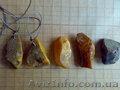 Кулоны из натурального необработанного янтаря.